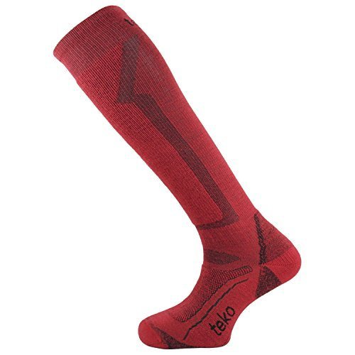 Teko Merino Ski Light Red Jet