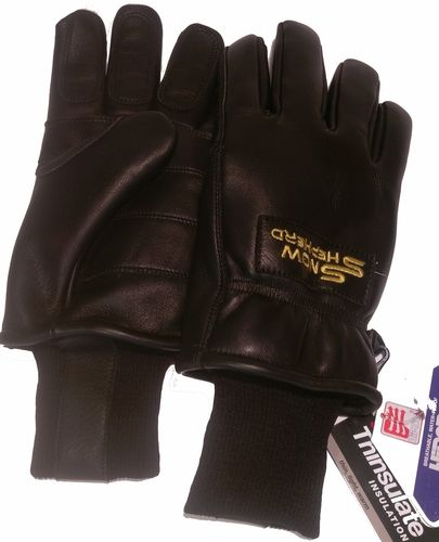 Snowshepherd Leather Ski Guide Pro Gloves Black