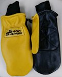 Snowshepherd Leather Ski Guide Pro Mittens Tan and Black