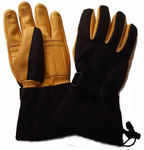 Snowshepherd Gauntlet Gloves Tan and Black